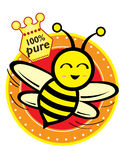 Honey & Bee Royalty Free Stock Photography