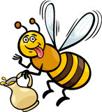 Honey bee insect cartoon illustration Stock Photo