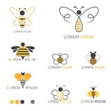 Honey Bee Insect Logo - vektor stock illustrationer