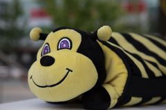 Honey bee insect plush toy Stock Image