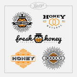 Honey bee label set Stock Images