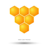 Honey Bee Logo Fotografia Stock