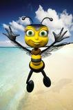 Honey Bee On The Beach Royalty Free Stock Photo
