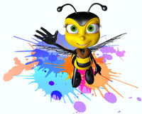 Honey bee paintball. The honey bee and paintball war Royalty Free Stock Photo