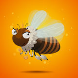 Honey bee queen. Character isolated Stock Photo