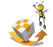 Honey bee super flying up Royalty Free Stock Photos