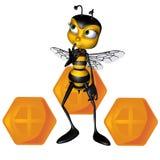 Honey bee thinking Stock Images