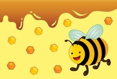 Honey Bee Vector Illustration sveglio Illustrazione Vettoriale