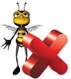 Honey bee wrong Stock Image