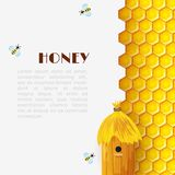 Honey Beehive Background illustration stock