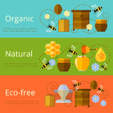 Honey and beekeeping banners Stock Photo