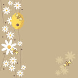 Honey Bees royalty free illustration