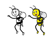 Honey Bees Character Royaltyfri Bild
