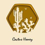 Honey Bees e fico d'india Fotografie Stock