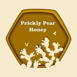 Honey Bees e fico d'india Fotografia Stock Libera da Diritti