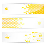 Honey and bees headers Stock Image
