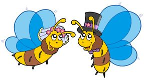 Honey bees wedding couple Royalty Free Stock Photo