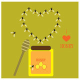 Honey and bees Stock Image
