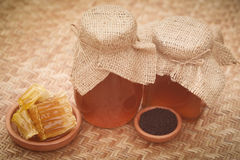 Honey with black cumin Stock Image