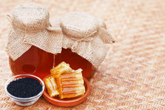Honey with black cumin Royalty Free Stock Photos