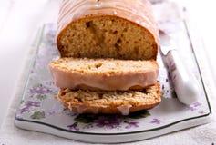 Honey bread with icing glaze Stock Image