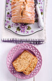 Honey bread with icing glaze Stock Images