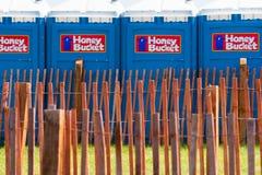 Honey Bucket Toilets Royalty Free Stock Image