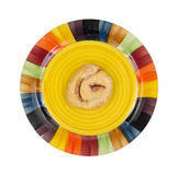 Honey bun on large plate Stock Image
