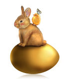 Honey bunny Easter greeting card Stock Image