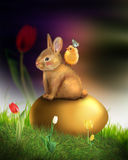 Honey bunny Easter greeting card Royalty Free Stock Image