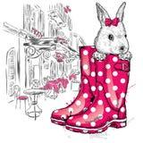 Honey Bunny em uma bota ilustração stock