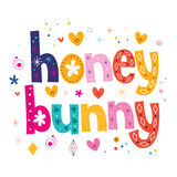 Honey bunny typography lettering design Royalty Free Stock Photo