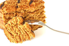 Honey cake Royalty Free Stock Images