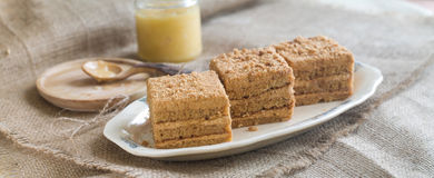 Honey cake Royalty Free Stock Image
