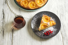 Honey cake with apricots, apricot pie. Food & Dishes for Restaurants, Cuisine of the peoples of the world, Healthy Recipes Royalty Free Stock Photography