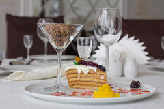 Honey cake Royalty Free Stock Image