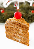 Honey cake. Royalty Free Stock Photo