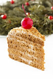Honey cake. Royalty Free Stock Photography