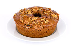 Honey cake with nuts. Stock Photography