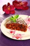Honey cake with nuts and raisins Stock Photography