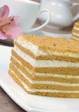 Honey cake Stock Photos