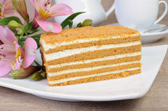 Honey cake Royalty Free Stock Photography