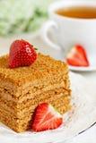 Honey cake Stock Photo