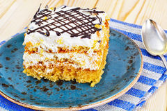Honey Cake with Sour Sream Royalty Free Stock Image