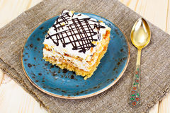 Honey Cake with Sour Sream Royalty Free Stock Images