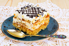 Honey Cake with Sour Sream Royalty Free Stock Photo