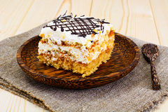 Honey Cake with Sour Sream Stock Image