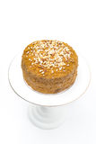 Honey cake on a white background, isolated Royalty Free Stock Photo
