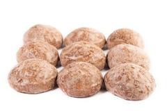 Honey cakes. Sweet honey russian cakes on white background royalty free stock photography