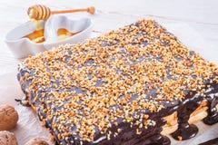 Honey cakes with chocolate Royalty Free Stock Photos